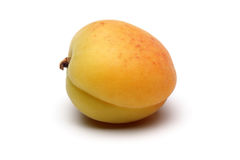 Apricot. On white background stock photography