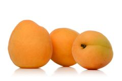 Apricot. S isolated over white background Stock Photography