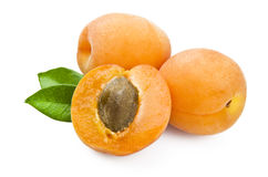 Apricot. Close up on a white background royalty free stock photos