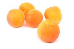 Apricot. Fresh apricots isolated on white background Royalty Free Stock Photography