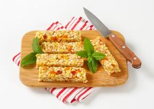 Apricot and apple cereal bars Stock Image