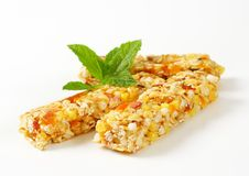 Apricot and apple cereal bars Royalty Free Stock Photography