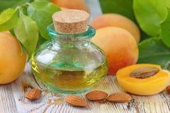 Apricot aroma oil stock image