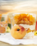 Apricot on background of dessert Royalty Free Stock Images