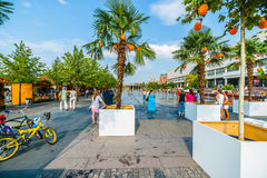 Apricot beach in Museon park of Moscow Stock Image