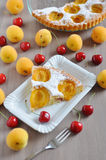 Apricot cake with cherries Stock Image
