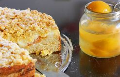 Apricot cake Royalty Free Stock Photography