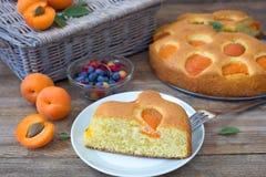 Apricot cake stock photos