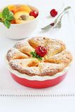Apricot cake with sweet cherry Royalty Free Stock Photo