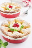 Apricot cake with sweet cherry Royalty Free Stock Images