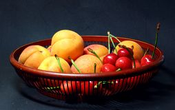 Apricot and cherry Royalty Free Stock Photo