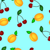 Apricot and cherry  Royalty Free Stock Images
