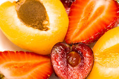 Apricot, Cherry and Strawberry Royalty Free Stock Images