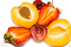 Apricot, Cherry and Strawberry Stock Image
