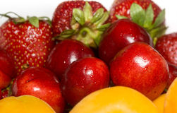 Apricot, Cherry and Strawberry Royalty Free Stock Photography