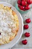 Apricot Cherry Streusel Cake Stock Image