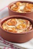 Apricot clafoutis Stock Photo