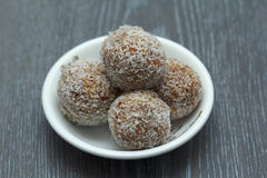Apricot and Coconut Balls Royalty Free Stock Photography