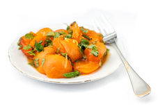 Apricot compote Royalty Free Stock Photo