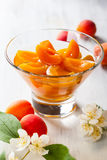 Apricot compote Royalty Free Stock Photography