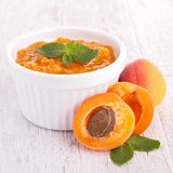 Apricot compote, jam Royalty Free Stock Photo