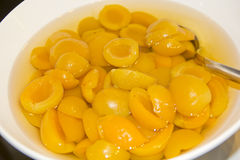Apricot compote Stock Image