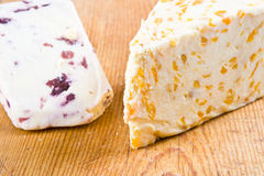 Apricot and cranberry stilton Royalty Free Stock Photography