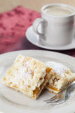 Apricot crumble cake Royalty Free Stock Photography