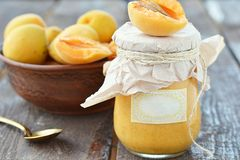 Apricot curd Royalty Free Stock Images