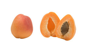 Apricot cut in half Royalty Free Stock Photography
