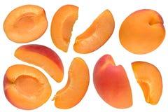Apricot cut set Royalty Free Stock Image