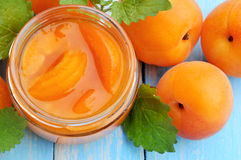 Apricot. Dessert from apricots. Apricots jam . royalty free stock images