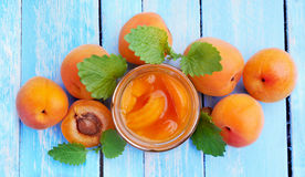 Apricot. Dessert from apricots. Apricots jam . stock images