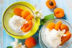Apricot dessert Royalty Free Stock Photo