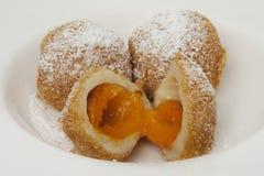 Apricot dumpling Stock Images