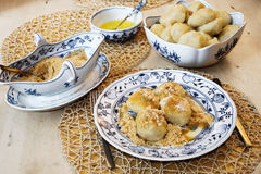 Apricot dumplings Royalty Free Stock Photo