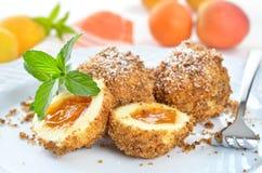 Apricot dumplings Stock Image