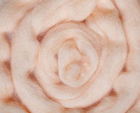 Apricot Felting Wool Stock Photography