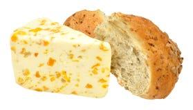 Apricot Flavoured White Stilton Cheese Royalty Free Stock Photos