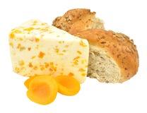 Apricot Flavoured White Stilton Cheese Royalty Free Stock Image