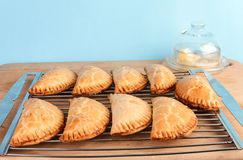 Fried Pies on Cooling Rack Stock Images