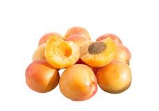 Apricot fruit. On a white background Stock Photo