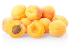 Apricot fruit heap Stock Photography