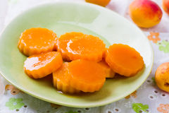 Apricot fruit jelly Royalty Free Stock Image