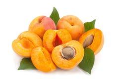 Apricot fruit on white Stock Photo