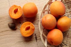 Apricot fruits Stock Photo