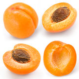 Apricot. Fruits isolated on white. Collection Stock Photos