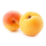 Apricot fruits with leaves Royalty Free Stock Photo