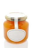 Apricot glass jar Stock Photo