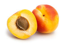 Apricot. Group on white background royalty free stock photos